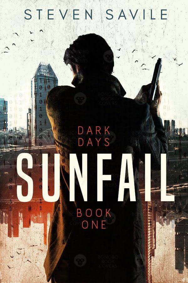 Steven Savile thriller book cover design