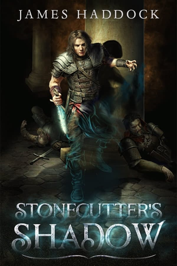 Illustrated fantasy book cover